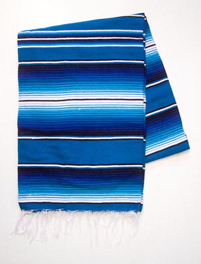 Blå enfärgad mexfilt