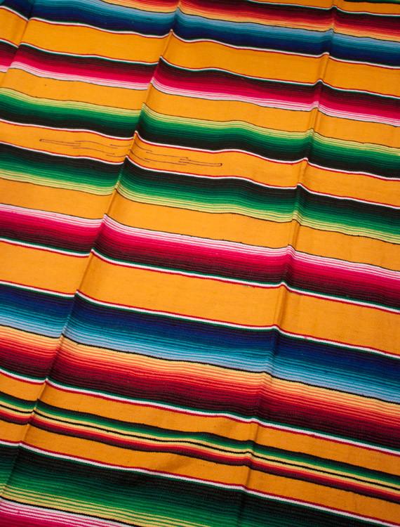 gul flerfärgad mexfilt